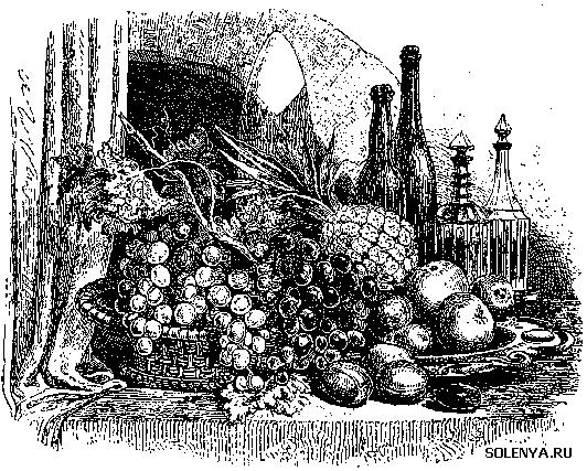 Старинная гравюра варенье
